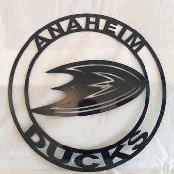 Anaheim Ducks Wall Art, Anaheim Ducks hockey custom design