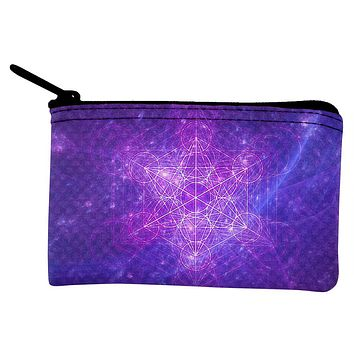 Sacred Geometry Metatron Cube Map of Creation Coin Purse