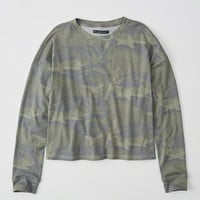 Womens Long-Sleeve Cutoff Tee | Womens New Arrivals | Abercrombie.com