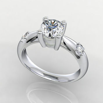 Solitaire Triology 3D CAD STL File Format Ring -STL-30