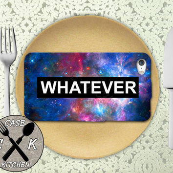 Whatever Space Galaxy Tumblr Inspired Quote Cute Rubber Tough Case iPhone 4/4s and iPhone 5 and 5s and 5c and iPhone 6 and 6 Plus