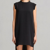 ALLSAINTS US: Womens Tonya Lew Silk Dress (black)