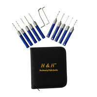 Professional Lock Pick Set - Easy Grip Ergonomic Handles  12 Piece Set In Heavy Duty Zippered Case