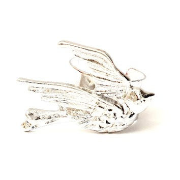 Little Sparrow Ear Cuff Metal Wrap Bird Silver Tone CA26 Dove Earring Swallow Animal Fashion Jewelry