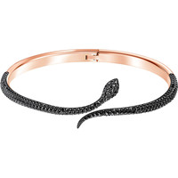 Leslie Bangle, Black, Rose gold plating by SWAROVSKI
