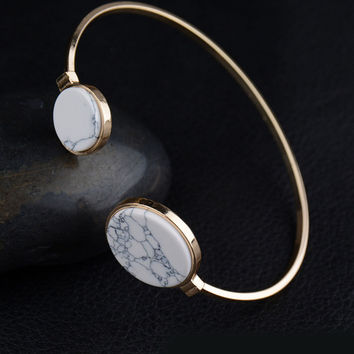 Streetstyle  Casual Retro Marble Round All-Match Adjustable Size Bracelet