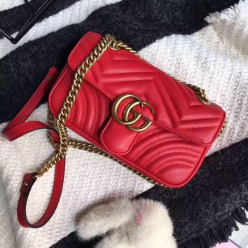 cc hcxx Gucci Marmont Red