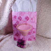 Gift Bag, Cosmopolitan Soy Candle, Pomegranate Poppyseed Soap
