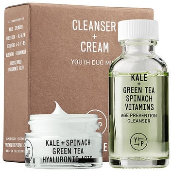 Sephora: Youth To The People : Cleanser + Cream Youth Duo Mini : skin-care-sets-travel-value