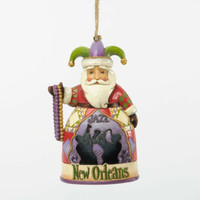 Enesco Jim Shore Heartwood Creek New Orleans Santa Ornament NIB  4036693