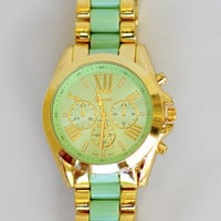 Color Me In Gold Watch: Mint | Hope's