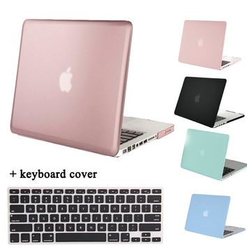 MOSISO for MacBook Pro 13(A1278) Clear Matt Plastic Hard Cover Case for Macbook Pro 15(A1286) Laptop Shell Cover+Keyboard Cover