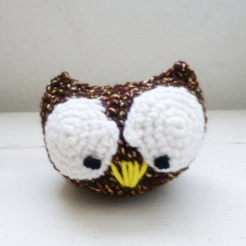 Amigurumi owl, amigurumi animal, crochet amigurumi, crochet owl, big eyes, ready to ship, handmade, owl baby shower, crochet toy, owl doll