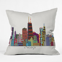 Brian Buckley Chicago City Outdoor Throw Pillow