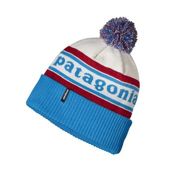 Patagonia Powder Town Beanie Hat | Park Stripe: Classic Red