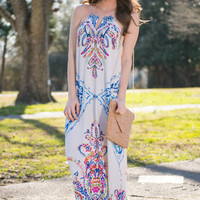 Wonderful Ways Maxi Dress, Cobalt