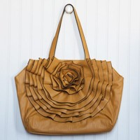 silhouette flower purse in marigold