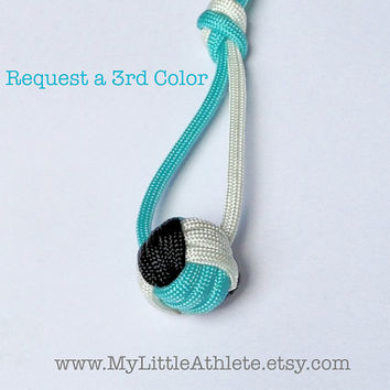 Volleyball Keychain Gift, Paracord Blue and Black