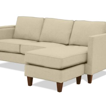 Anderson Reversible Chaise Sofa :: Leg Finish: Pecan