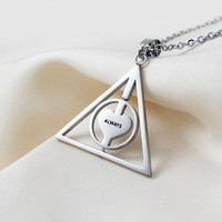 Harry Potter After all this Time?Always.Necklace Rotate Deathly Hallows Pendant Friendship Valentine Gift Best Friend Necklace