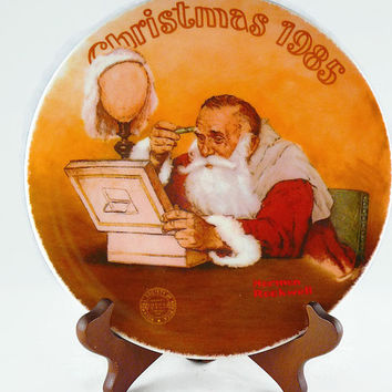 Vintage 1985, Norman Rockwell, Twelfth Edition, Christmas Collection, Grandpa Plays Santa, By Knowles