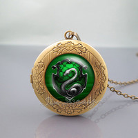 Salazar Slytherin Harry Potter Photo Locket Necklace,vintage pendant Locket Necklace