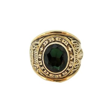 Drew University 10k Gold Class Ring Men's 1960 BOLD