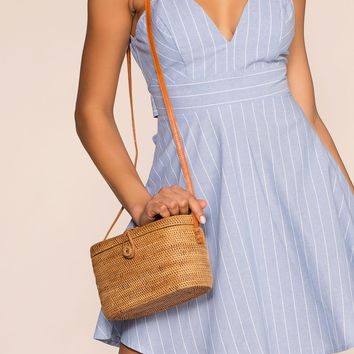 Tiki Straw Shoulder Bag