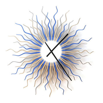 Medusa 'arctic' large - contemporary wooden wall clock
