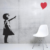 Banksy Love Floats Wall Decals