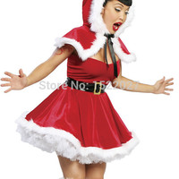 The new winter fashion in Europe and America including shawl costume cosplay girls sexy Christmas costumes Christmas