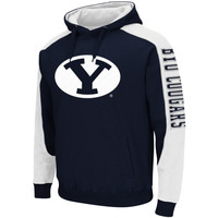 BYU Cougars Thriller II Pullover Hoodie - Navy Blue