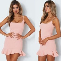 Stella mini ruffle dress