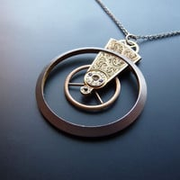 Clockwork Pendant Future Recycled Mechanical by amechanicalmind