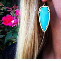 Skylar Earrings in Turquoise - Kendra Scott Jewelry