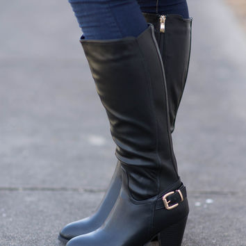 Step It Up High-Heel Knee Boot
