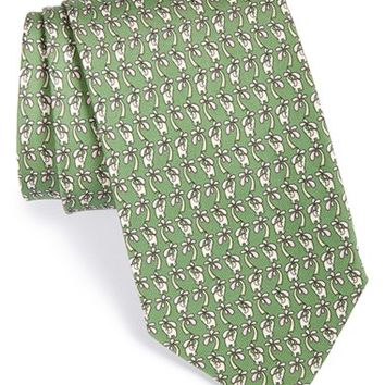 Men's Salvatore Ferragamo Elephant Print Silk Tie