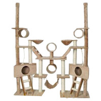 "Go Pet Club Huge 92"" Multi Condo Cat Gym in Beige"
