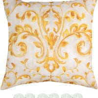 "Manual Woodworkers SLSSN8 Sunshine VIII Climaweave Indoor Outdoor 18""x18"" Pillow with 6-Pack Tea Candles"