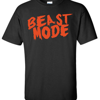 Beast Mode Workout Gym Bodybuilder  T-Shirt Tee Shirt Mens Womens Ladies  Funny B-053