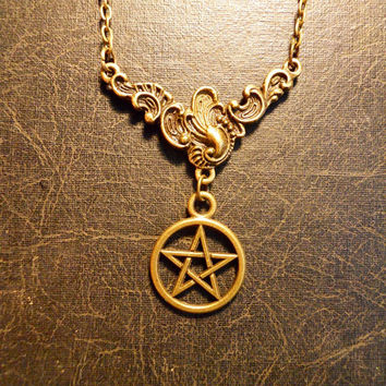The Good Witch Pentagram White Magic Talisman Necklace