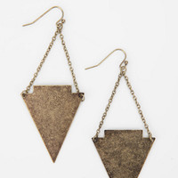 Metal Arrowhead Drop Earring