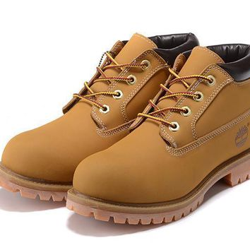 Timberland Men Women Anti Fatigue Outdoors Classics Boots Wheat yellow