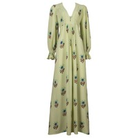 Ossie Clark moss crepe maxi dress with Celia Birtwell print, circa 1970s