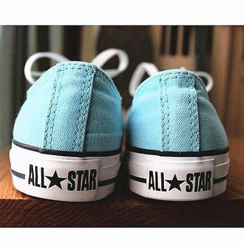 CREYUG7 Women With Men White 'Converse' Fashion Canvas Flats Sneakers Sport Shoes
