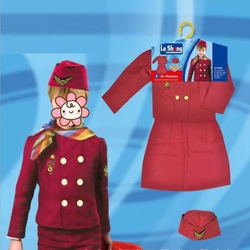 ONETOW Girl Formal Stewardess Uniform Police Cosplay Costume Halloween Dress Party Stage Performance Props