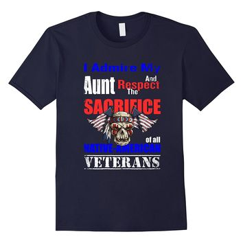 Native American Veteran Aunt Shirt