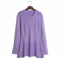 Aliexpress.com : Buy Free shipping 2013 autumn Korean style the new waist fishtail skirt flounced hem tunic sweater Pullover XCD2081 821 36 from Reliable pullover definition suppliers on eFoxcity Wholesale