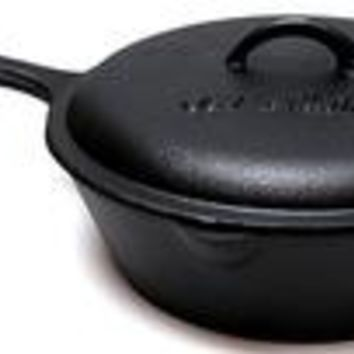 Old Mountain Cast Iron Preseasoned 3qt Deep Fry Skillet with Lid