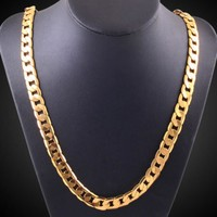 Cuban Link 24k Gold Plated Necklace